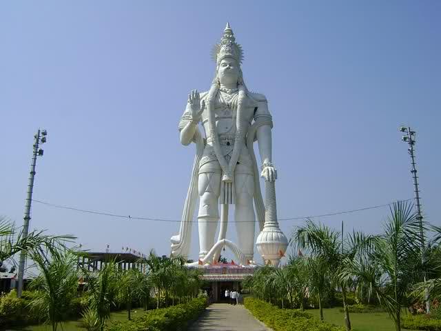 tallest hanuman statue veer abhaya anjaneya hanuman swami