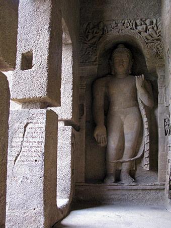 Buddha in Cave 3 Kanheri Caves