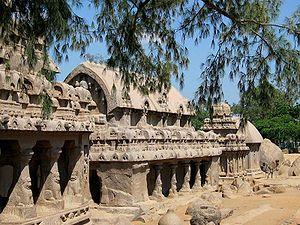 Mahabalipuram five rathas