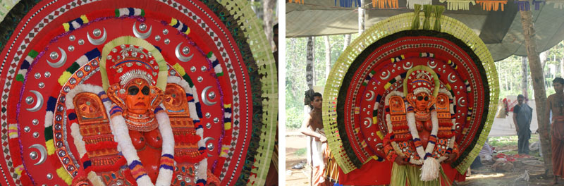 Raktachamundi theyyam face