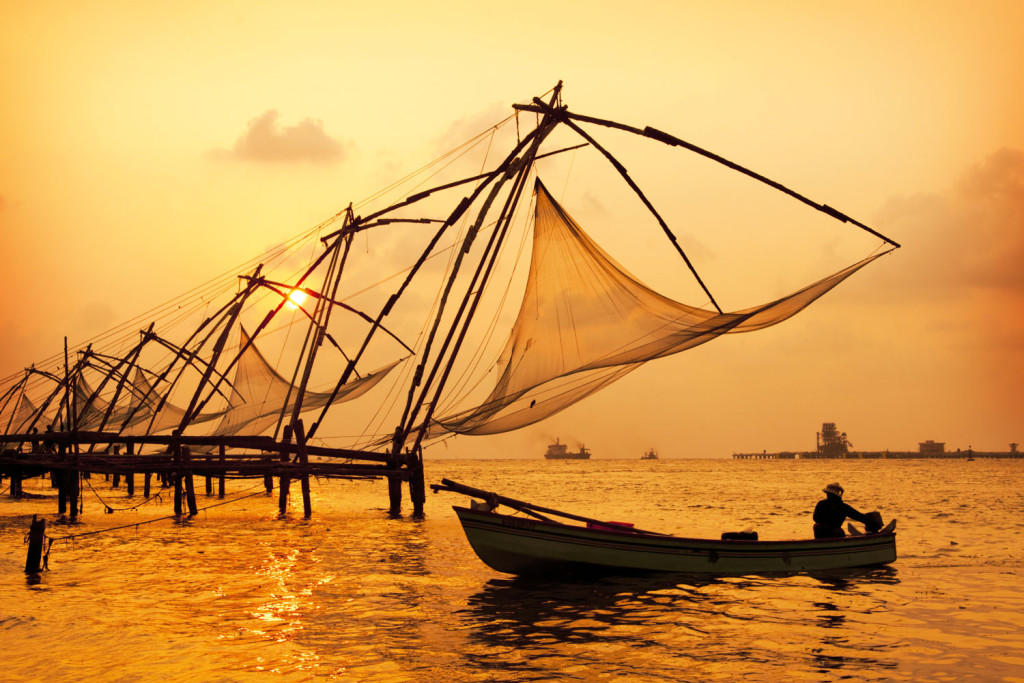 Chinese fishing nets of Kochi