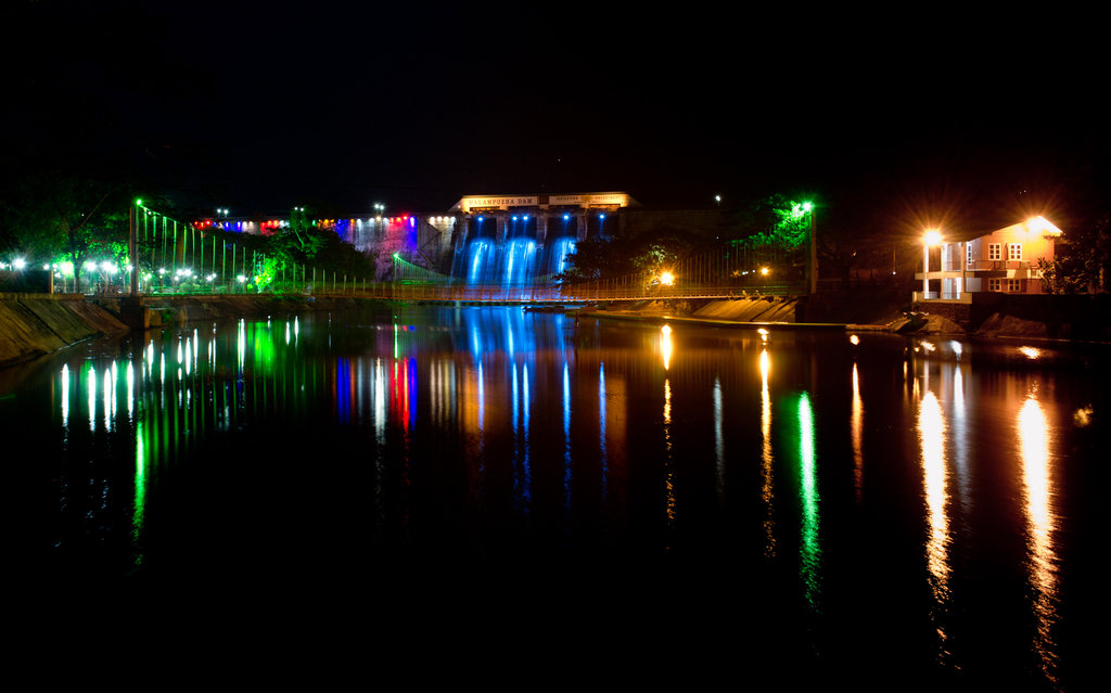 malampuzha_dam-night-view