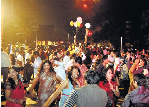 New year parties in Pondicherry