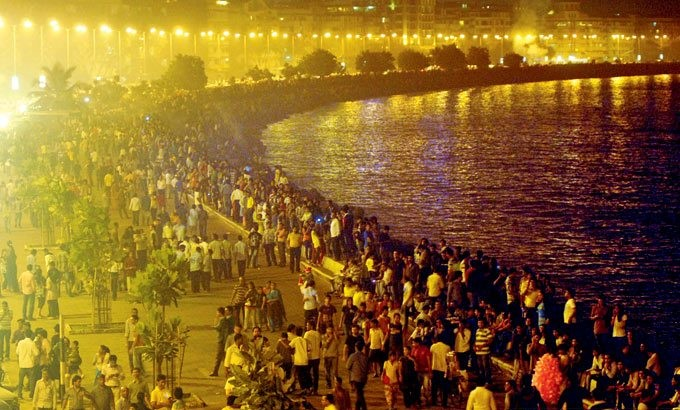 Marine Drive New Year celebrations