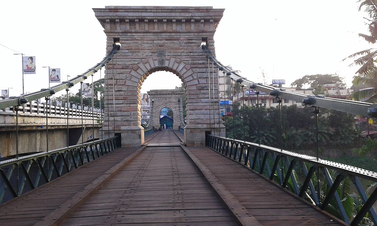 Punalur suspension bridge