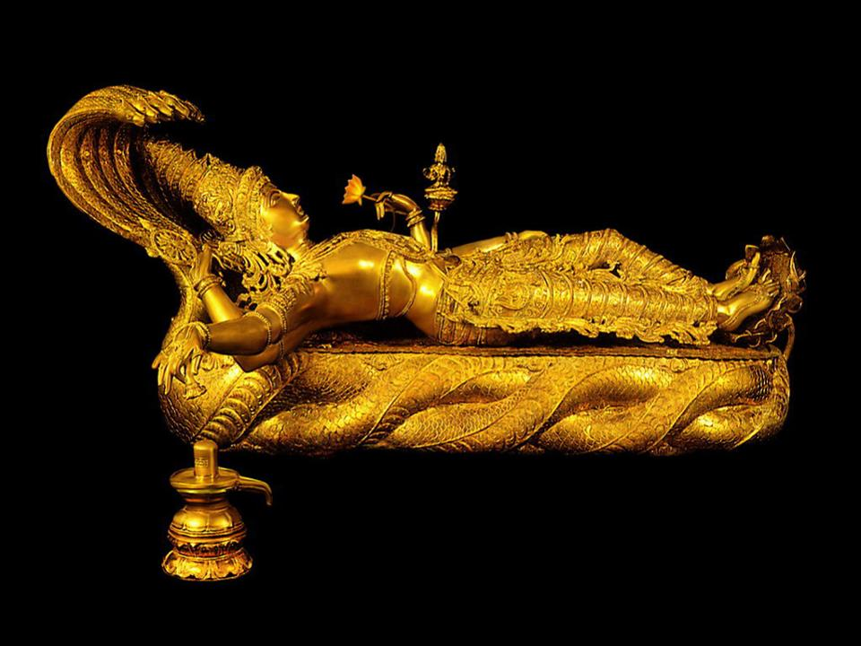 Padamanabha Swamy golden idol